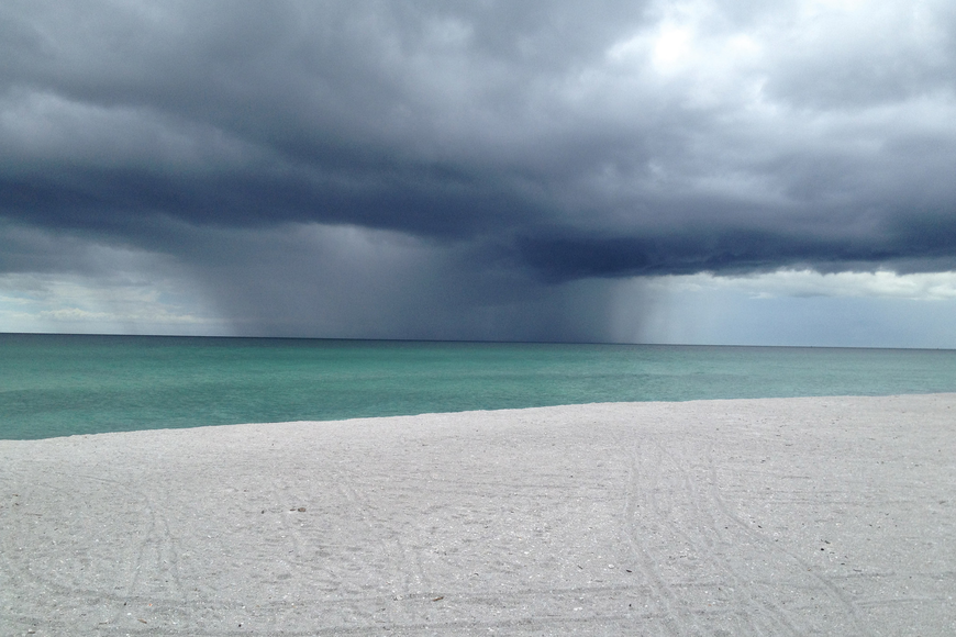 Jan Rulli took this photo of Tropical Storm Debby over the Gulf of Mexico.