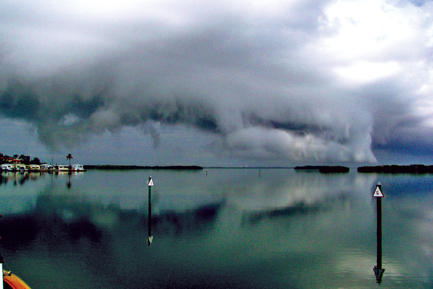 Charles Neubauer took this photo of storm clouds rolling in over Buttonwood Harbor.