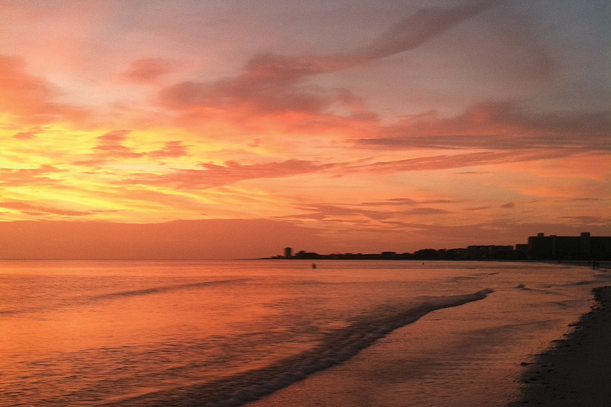 Glenda Kiesewetter took this sunset photo the night before Tropical Storm Isaac passed over Siesta Key.