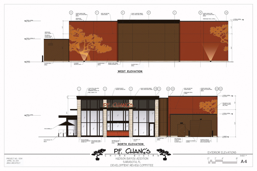 A new P.F. Chang's China Bistro restaurant should open by August 2013 in a newly-constructed 6,900-square-foot building at the corner of U.S. 41 and Osprey Avenue. Courtesy rendering.