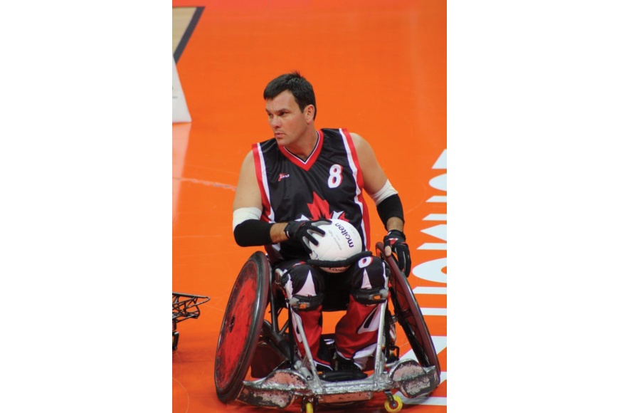 A natural athlete, Mike Whitehead found solace in wheelchair rugby after a car accident left him a quadriplegic in 1999. Courtesy photos.