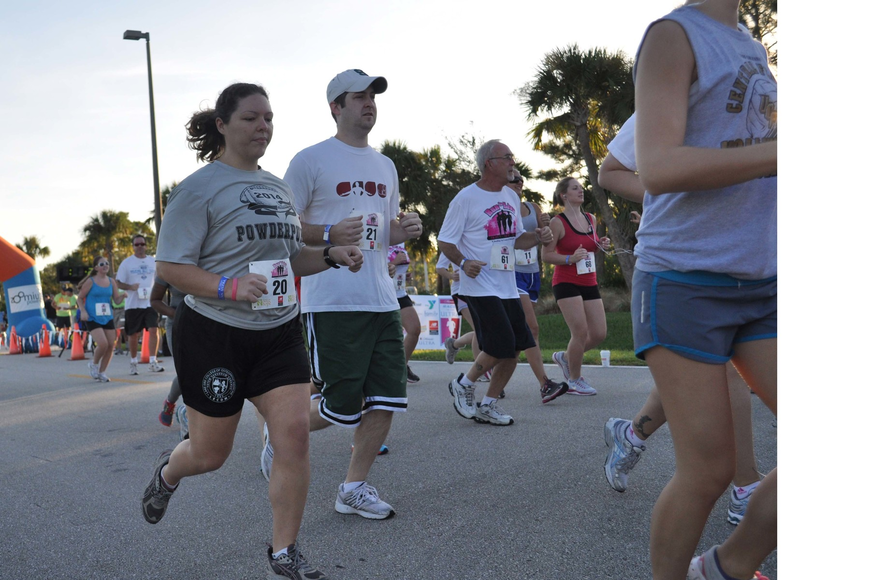 The 5K portion of the race started at 8 a.m. sharp.