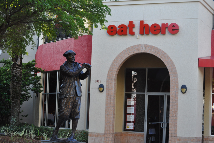 Eat Here opened the doors of its downtown Sarasota location last year to high praise from local food critics.