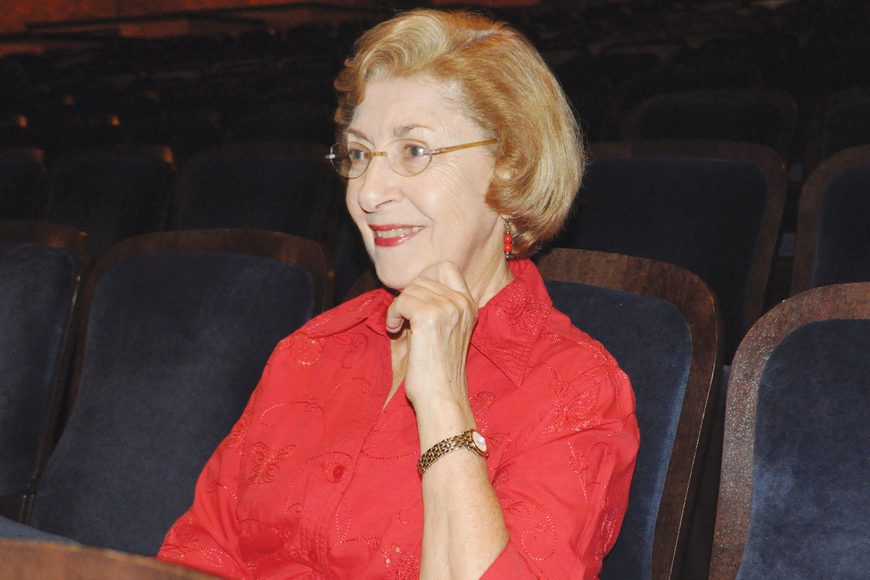 Barbara Chertok sits in her usual seat in row D at Sarasota Opera House. This season's newly installed hearing loop means she won't need any additional equipment to hear the music she calls her main love in life.
