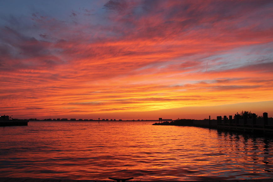 Laurie Krampits took this sunset at the 10th Street boat ramp in Sarasota.