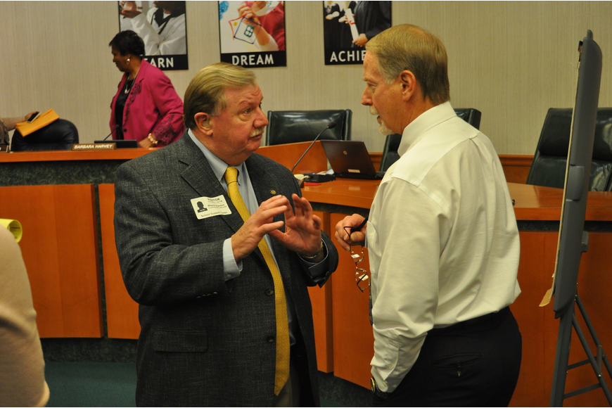 Dr. Wayne Blanton helped the School Board approve a tentative March 29 start date for the future Superintendent while settling on a $160,000-$195,000 salary for the hire.