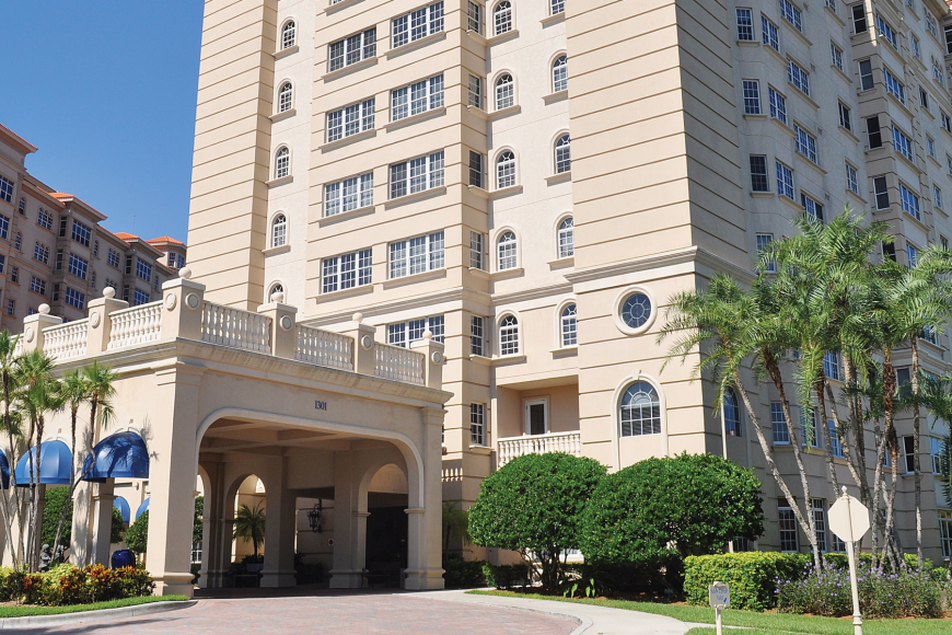 Unit 513 at Sarasota Bay Club has three bedrooms, two baths and 2,299 square feet of living area. It sold for $900,000. File photo.