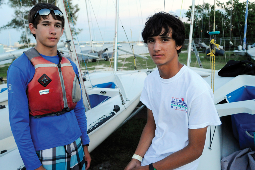 Sarasota Youth Sailing Squadron sailors Nick Hernandez and Nico Schultz, both 14, will represent Team USA in the BMW Optimist Team Race Cup Oct. 27, in Berlin.