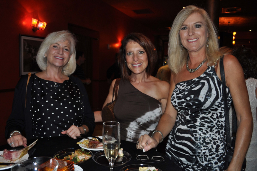 Diane Stabile shared a table with Bonnie Schiavone and Betty Hon.