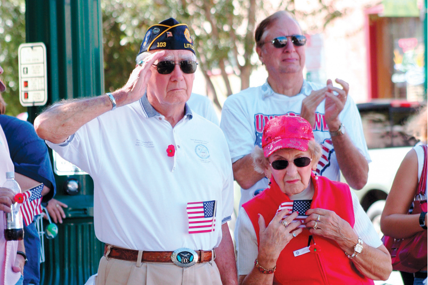 Fay and Geri Cunningham at the Sarasota Veterans Day parade in 2009