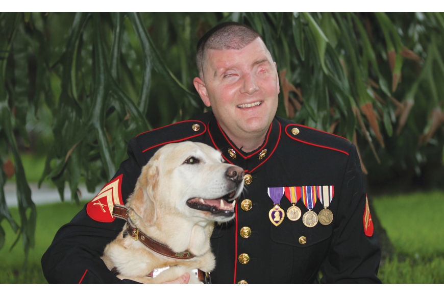 Michael Jernigan's dog, Brittani, has been his constant companion for more than five years. Courtesy photo.