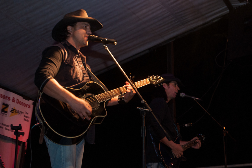 Country Singer Adrian Ray performed at the Haven Hoedown.