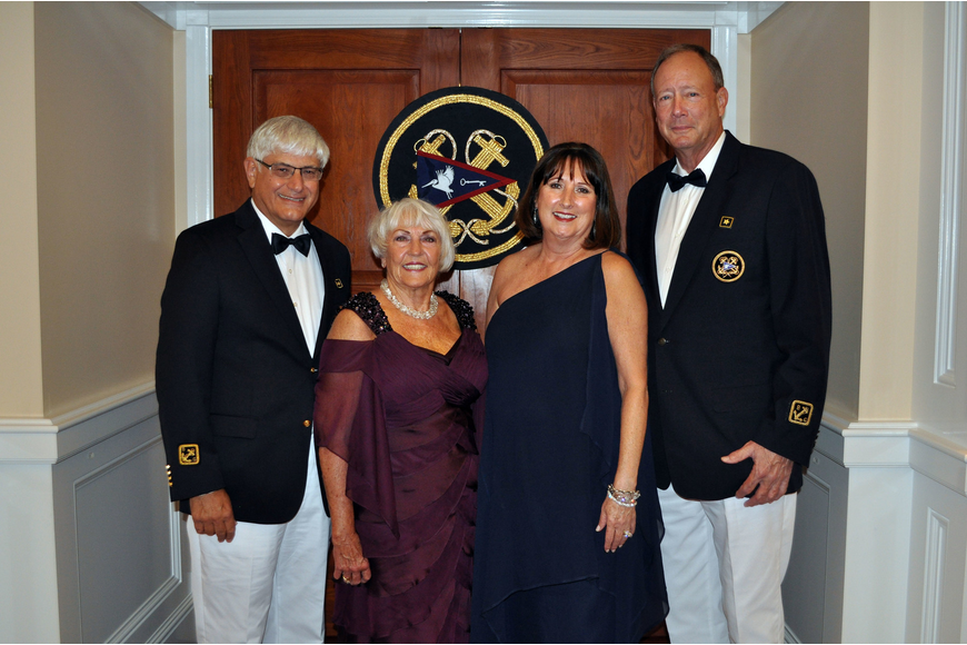 Vice Commodore Dave and Marilyn Powell with Jan and Rear Commodore Lee Peakes