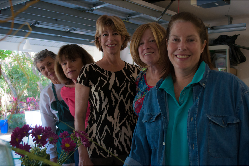 Jane Boehme, Kathy Gricius, Kim Freiwald, Sherry Linhart and Tory Newman
