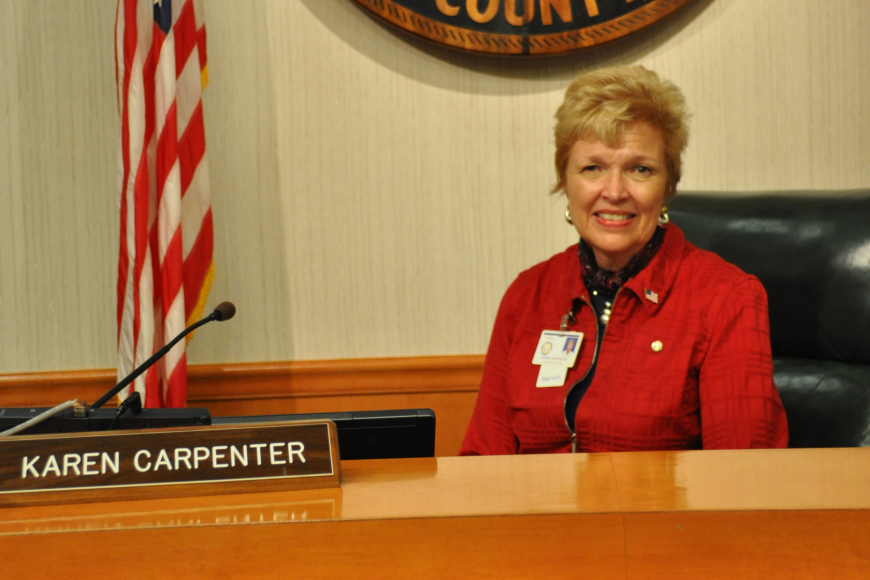 Karen Carpenter, new Manatee County school board chairman, acknowledged the challenge ahead.