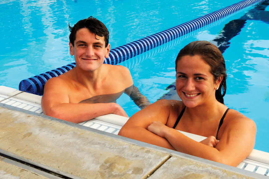 Alex and Taylor Katz have been swimming on the same team for eight years. The two Riverview High siblings swam in their final high school swim meet together Nov. 9.