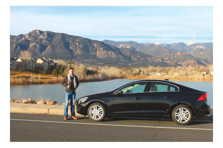 Joseph Axtell, a 23-year-old University of South Florida Sarasota-Manatee senior, won the #VolvoJoyride contest on Pinterest, earning a four-day, three-night road trip to Colorado Springs, Colo., in his dream car.