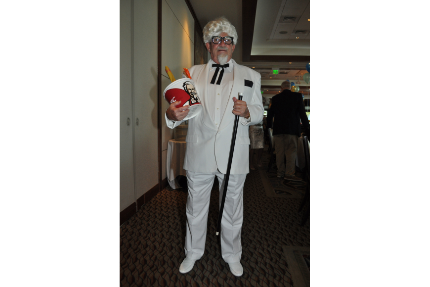 Dean DuCray donned a Col. Sanders costume May 5 at the Sarasota Yacht Club's Kentucky Derby party.