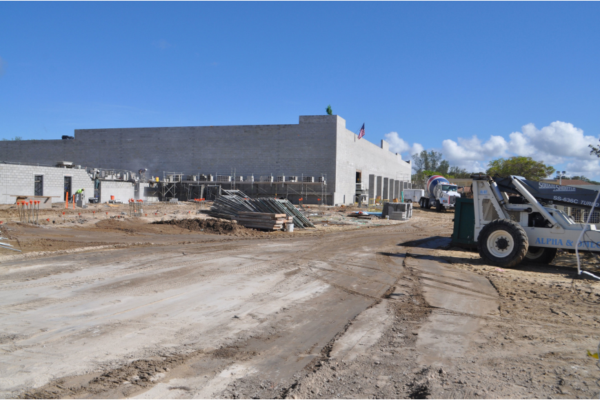 Constructions teams worked on the foundation of the new Longboat Key Publix in July. The grocery store opened Dec. 13 on Bay Isles Road.