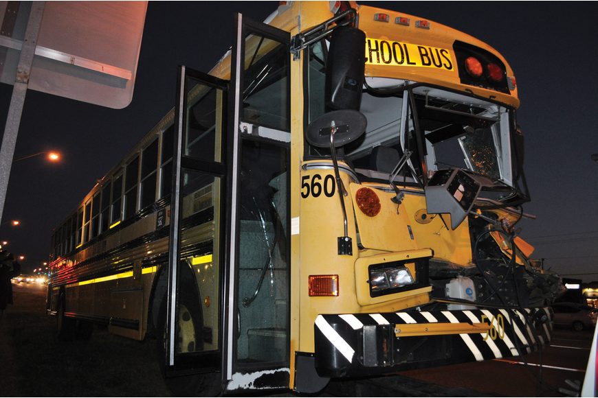 The 26 students riding Manatee County School District Bus 560 all escaped a Jan. 5 crash with only minor injuries. Counselors were available at Braden River Middle Jan. 9 to meet with students. Published Jan. 12, 2012.