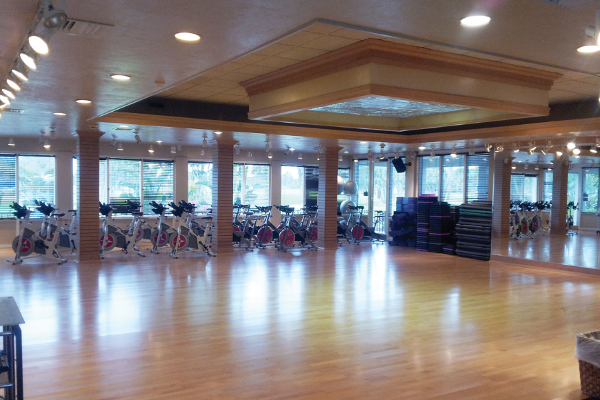 The Longboat Key Club's new Mind & Motion studio for fitness classes. Courtesy photo.