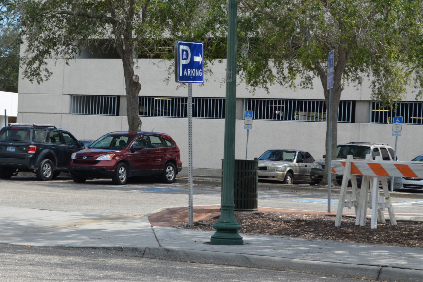 The site of the planned garage is now home to a 139-parking space lot.