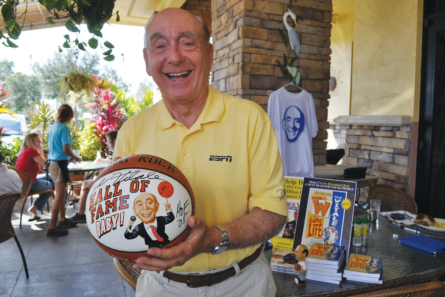 ESPN college basketball analyst Dick Vitale will be inducted into the National Sportscasters and Sportswriters Association Awards Hall of Fame in June.