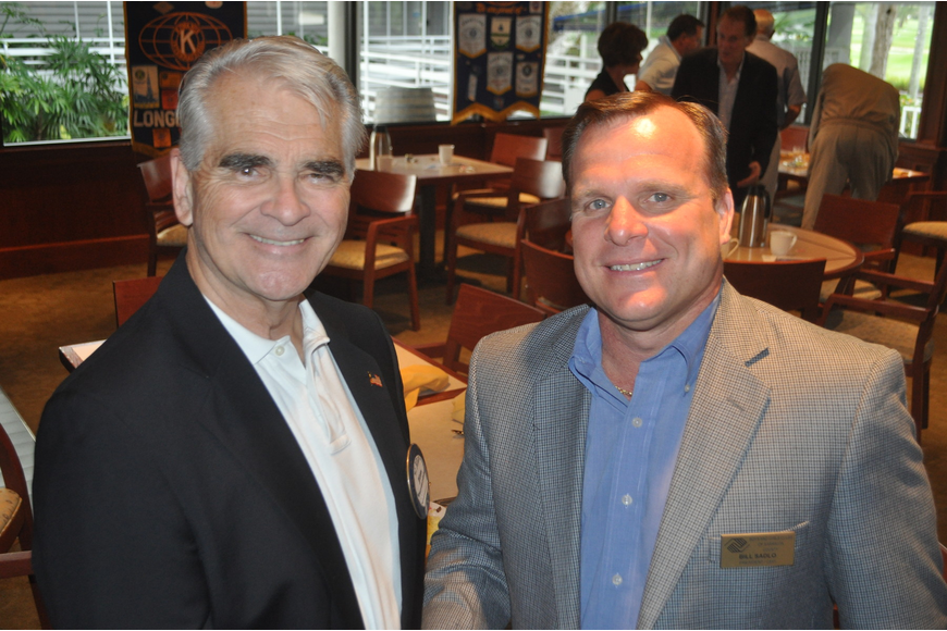Kiwanis President Jim Burmeister and Bill Sadlo, CEO of Boys & Girls Clubs of Sarasota County