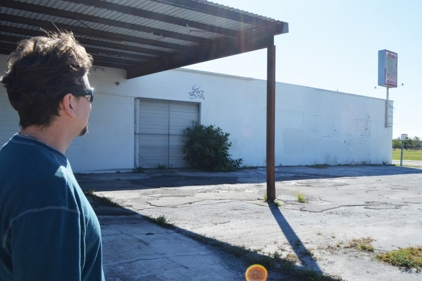 Downtown advocate Forrest Shaw hopes an overlay would bolster redevelopment on the edge of downtown, such as the old Scotty's Hardware property across from Payne Park.