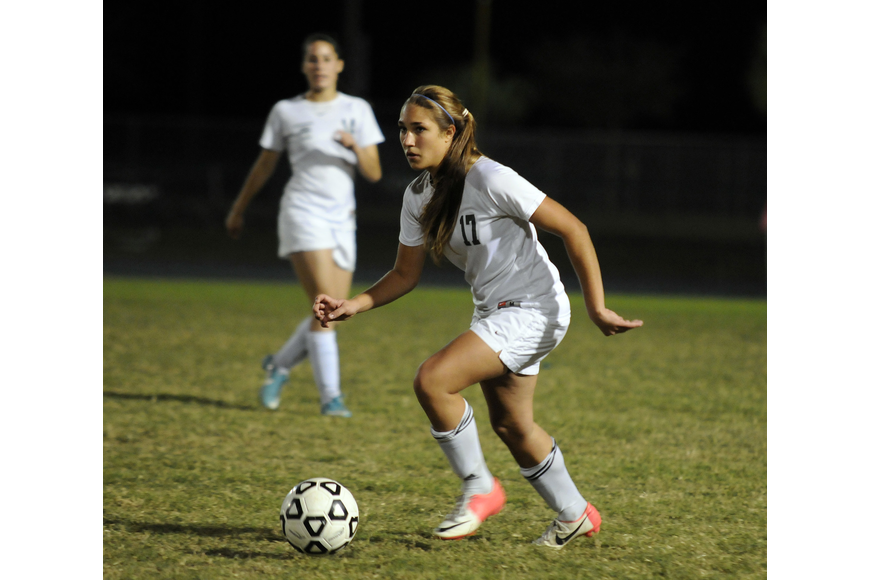 Hannah Miller and the rest of Lakewood Ranch's defense held Ida Baker scoreless in the second half.