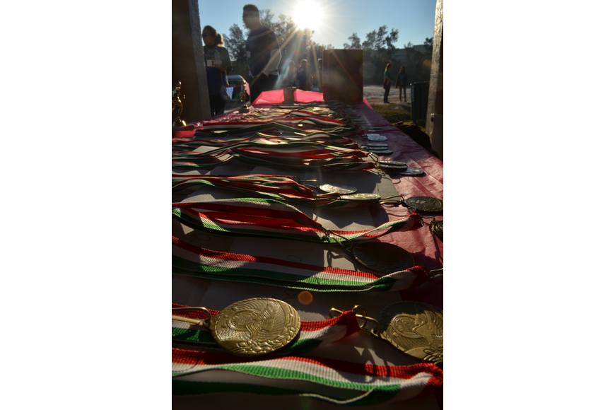 Medals were given out to different age categories.