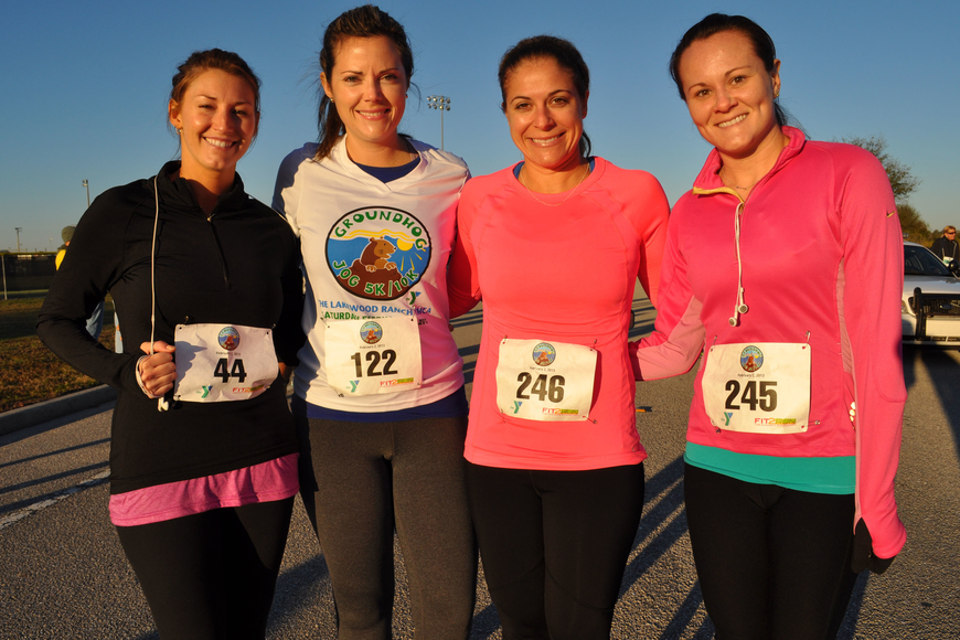 Christina Despot, Kelsie MacMillan, Stacey Royce and Lauren Deubert have made a goal to complete one race together each month.
