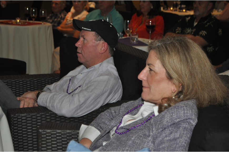 Mary and Steve Wiltse watch the Ravens during the 2nd quarter
