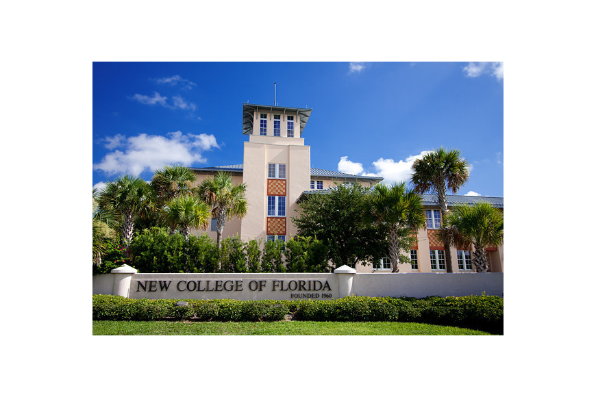Academic Center and entrance to New College of Florida. The college was ranked as a top value.