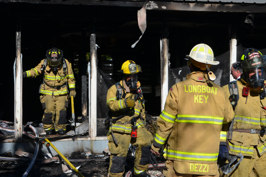 A Gulfside Road home is no longer habitable after a fire sent black smoke billowing throughout the structure.