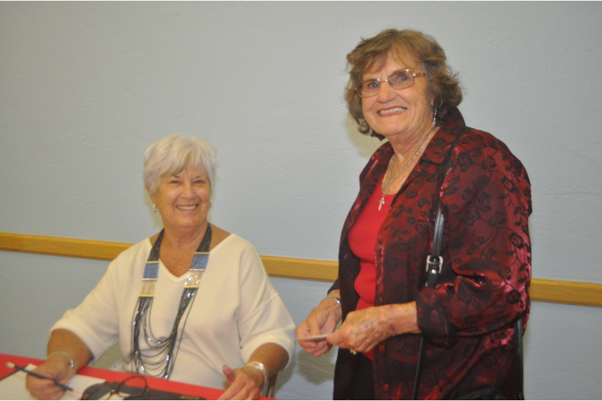 former mayor Dr. Joan Webster and Rita Draveling