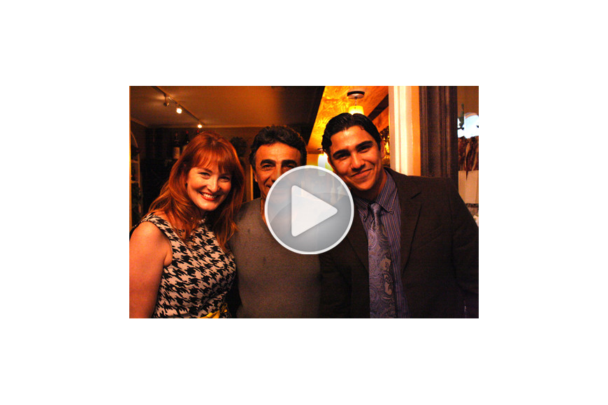 Emily Walsh and Alex Mahadevan with CasAntica owner Peter Migliaccio.