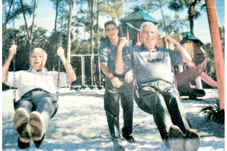 Jim Durante, Bruce St. Denis and Hal Lenobel got in the swing of things in February 1999. File photo.