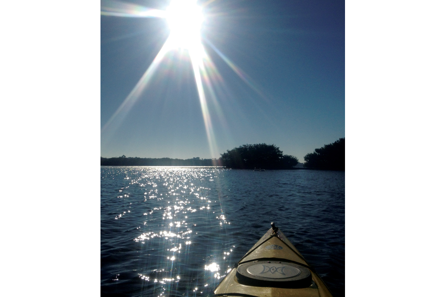 Mike Hang submitted this photo of a morning kayak on Little Sarasota Bay.