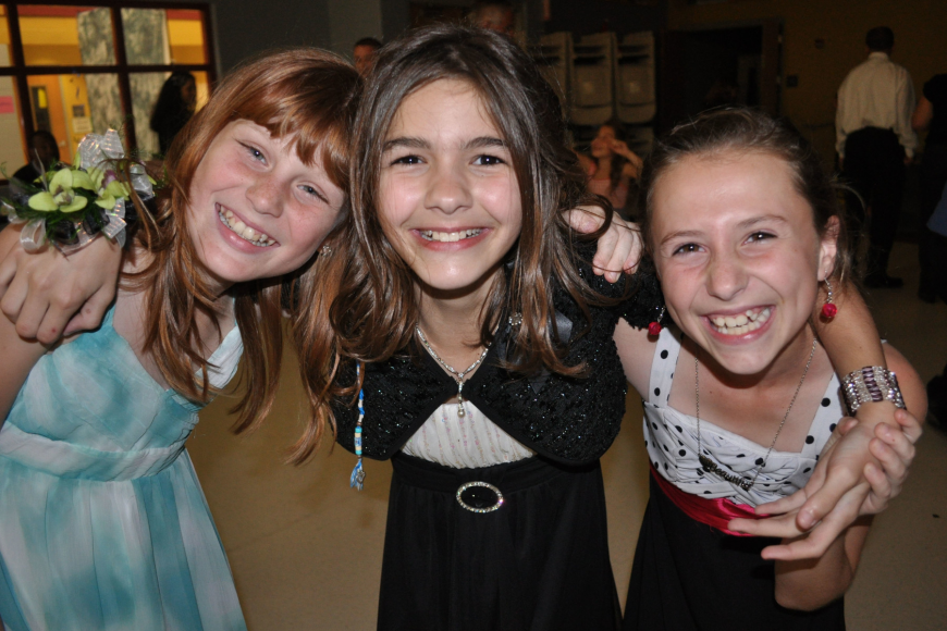 Olivia Harrison, Jillian Mazure and Kaitlin Yawn all are in the fifth grade.
