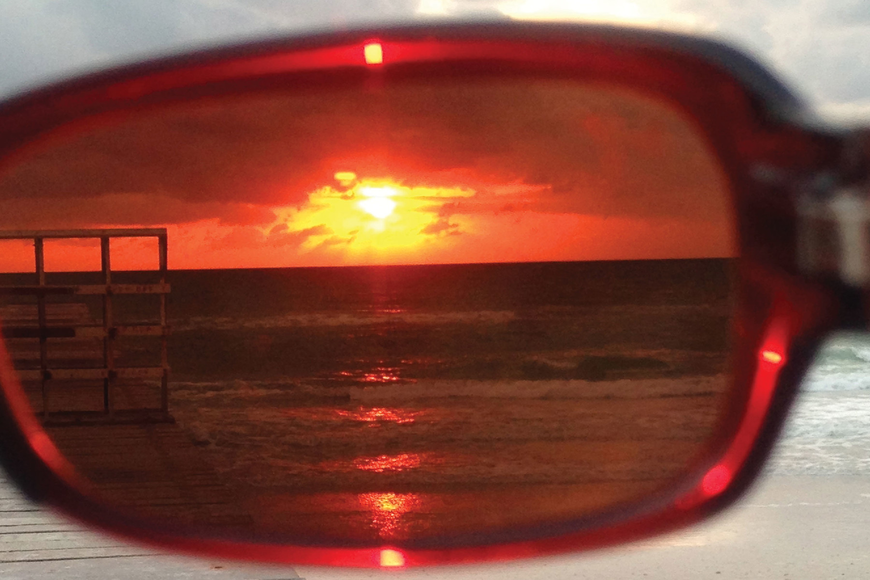 East County resident Edie Abate submitted this photo of sunset taken through her sunglasses at Bradenton Beach.