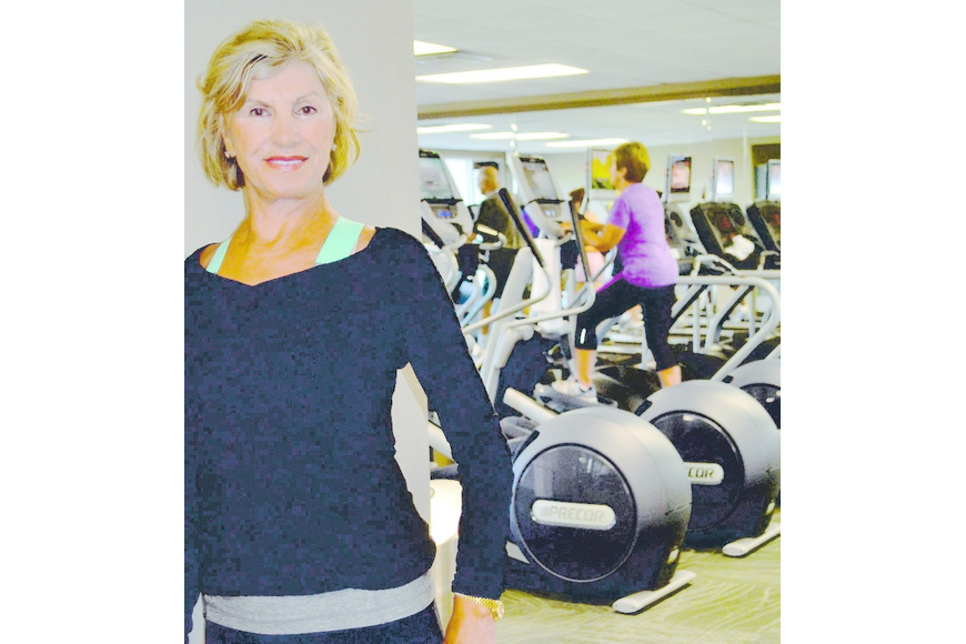 """Aerobic Grandma"" Isabella Paspa at her home-away-from-home, the Longboat Key Club Fitness Center. Molly Schechter."