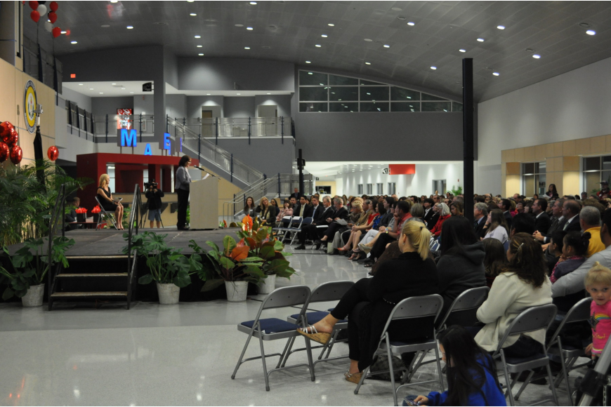 The 7 p.m. ceremony was held at Manatee Technical Institute's new State Road 70 campus.