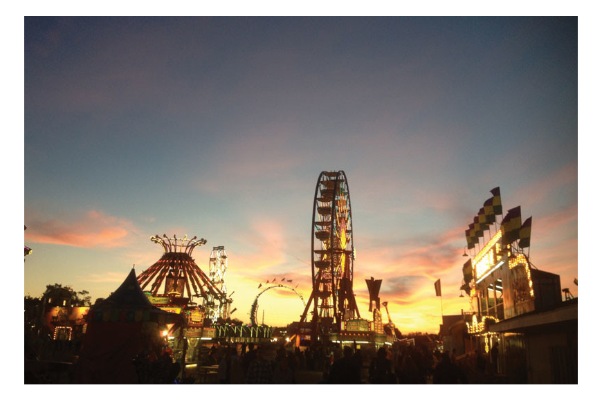 Natalie Tanner submitted this photo of sunset at the Sarasota County Fair.
