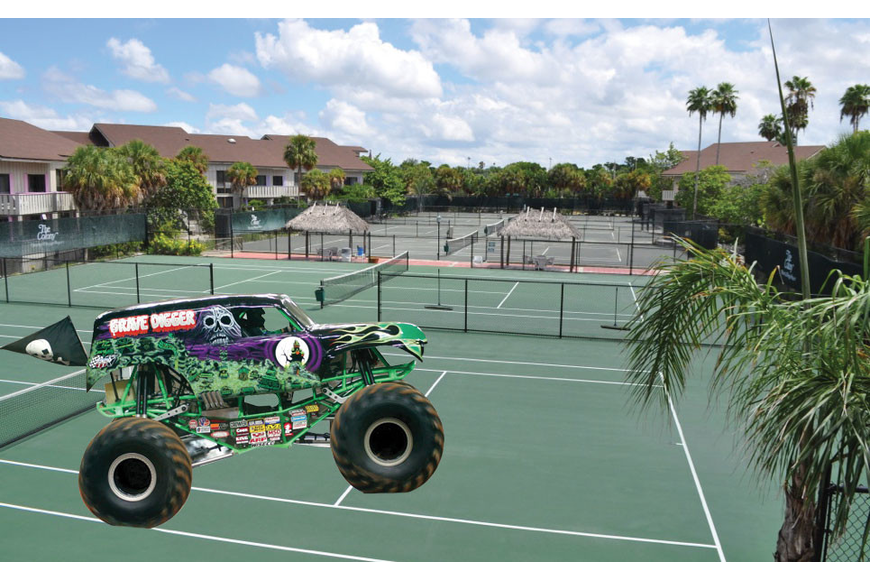 "Dr. Murray ""Murf"" Klauber has persuaded the 2013 Advance Auto Parts Monster Jam tour to make a stop at the Colony property on its way to a scheduled tour date in Miami."