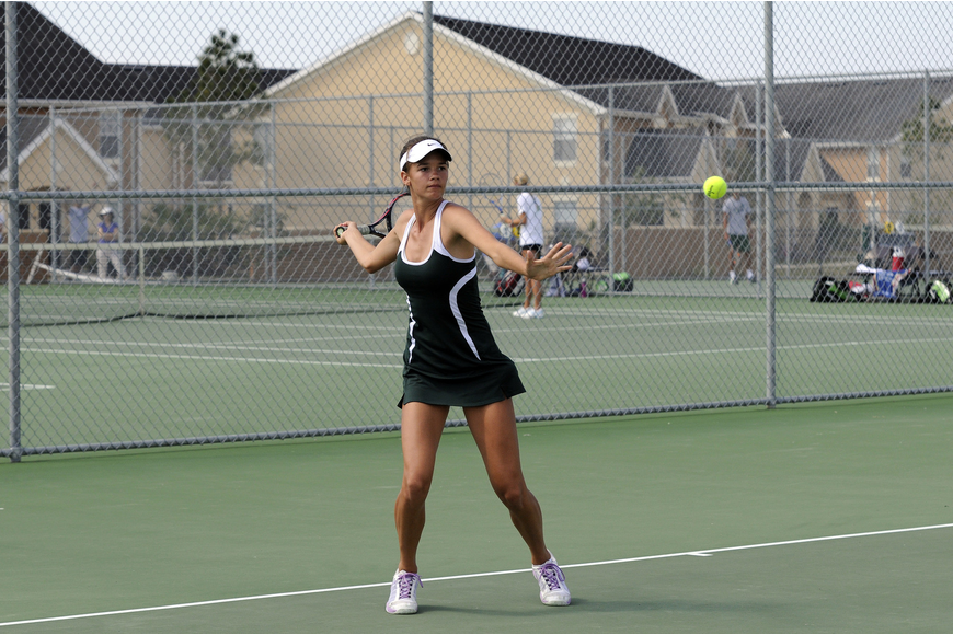 Lakewood Ranch's Ashley Bongart automatically advanced to the Class 3A state meet after winning No. 1 singles and No. 1 doubles titles April 3.