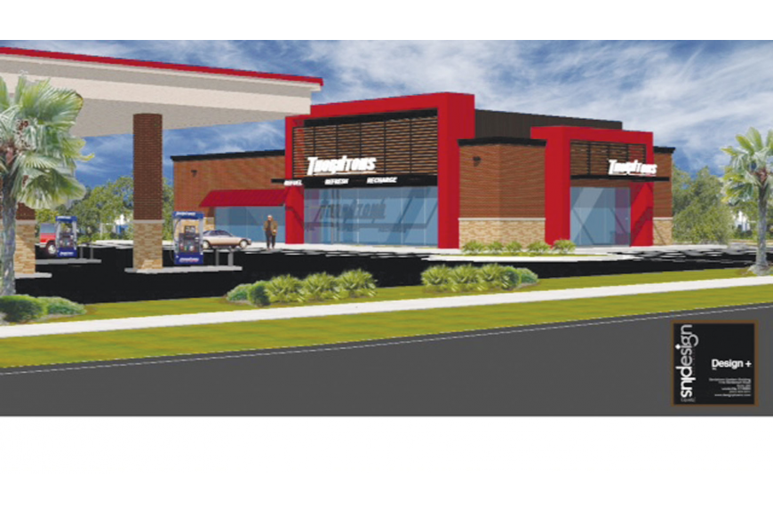 Rendering of Thornton's gas station that will be built on the church's 1.155-acre parcel of land