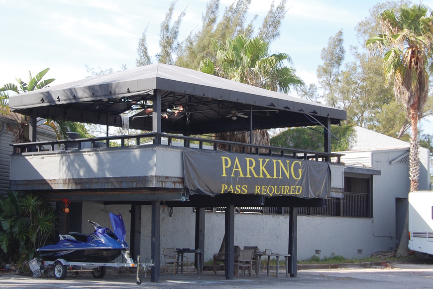 The 18-year-old abandoned nightclub on Old Stickney Point Road is one of the newest buildings in the south Siesta Key commercial district.