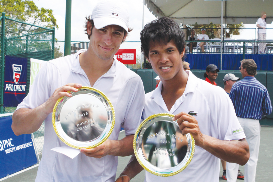 Ilija Bozoljac and Somdev Devvarman won the men's doubles finals.