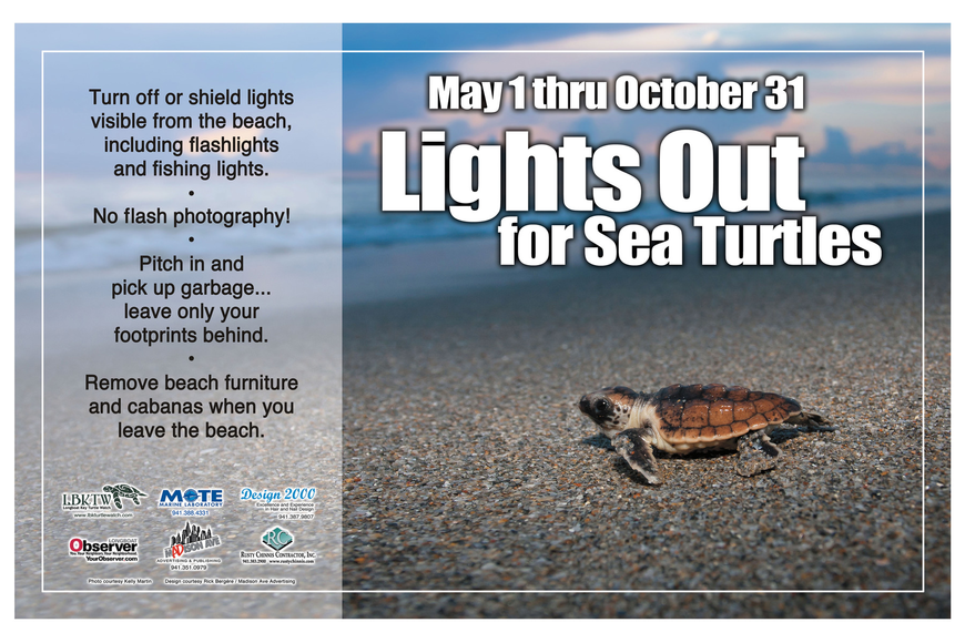Longboat Key Turtle Watch's 2013 poster offers turtle-nesting season guidelines. Courtesy photo.